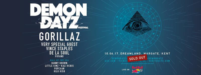 Sigue en streaming Demon Dayz, el festival de Gorillaz