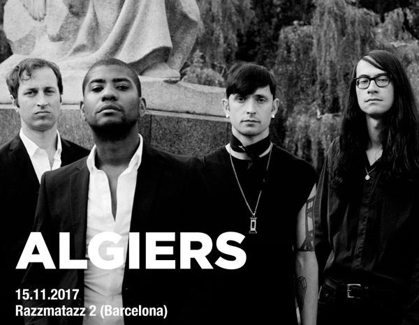 Concierto de Algiers en Barcelona en noviembre de 2017