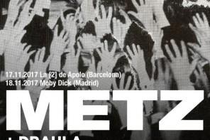 METZ anuncian nuevo disco y gira por España en Noviembre de 2017