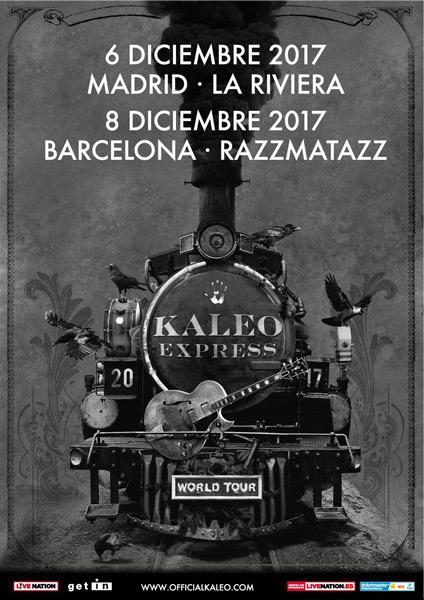 Kaleo announce December 2017 Spain shows