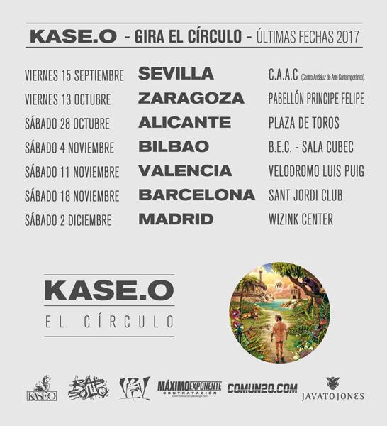 Kase O el circulo ultimas fechas 2017