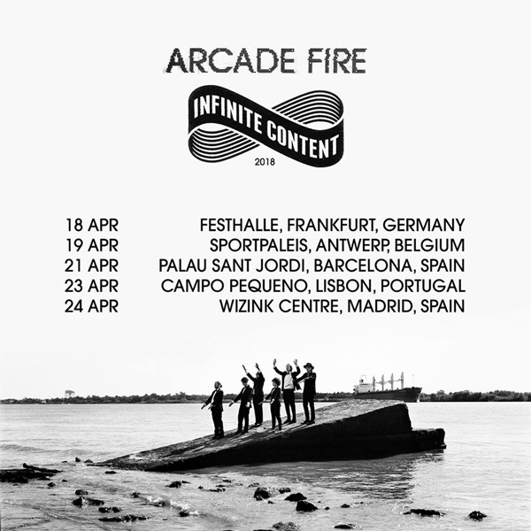 Arcade Fire announce new shows for April 2018 European Tour