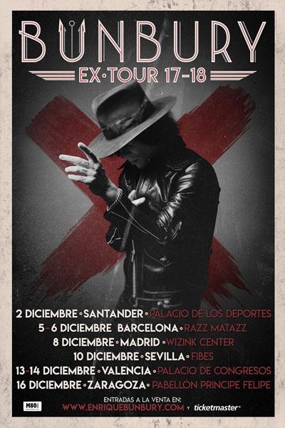 Bunbury anuncia nuevos conciertos en Barcelona y Valencia