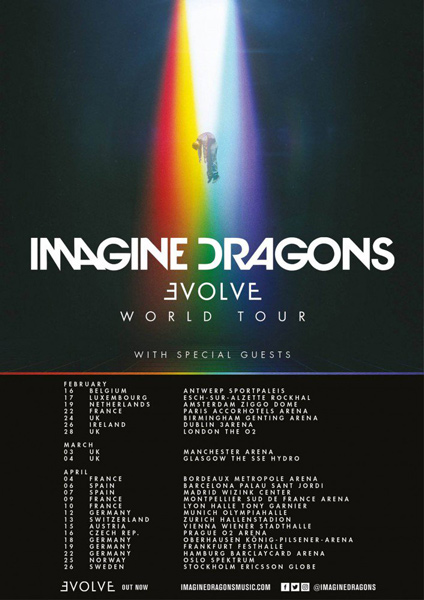 Imagine Dragons announce 2018 European Tour