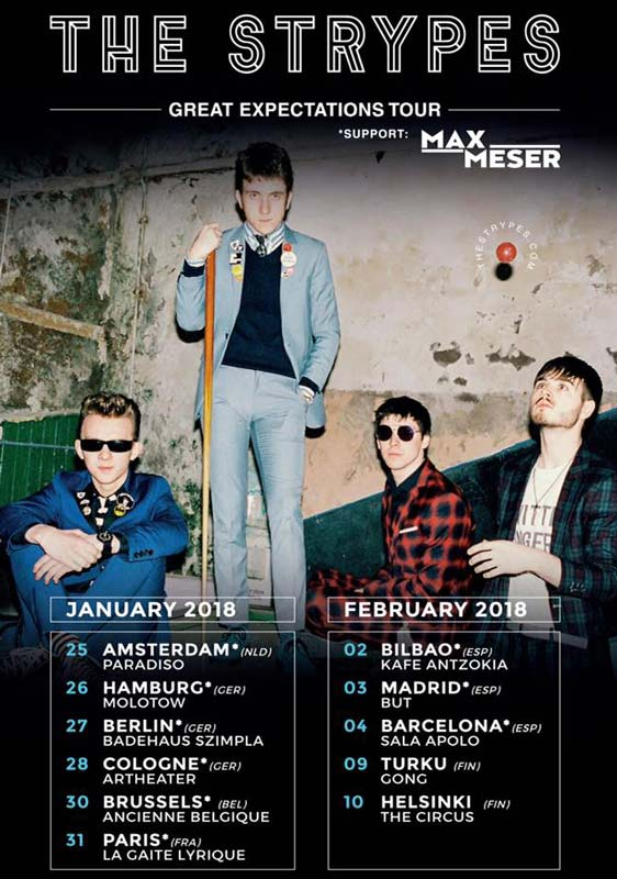 The Strypes actuarán en España en febrero de 2018