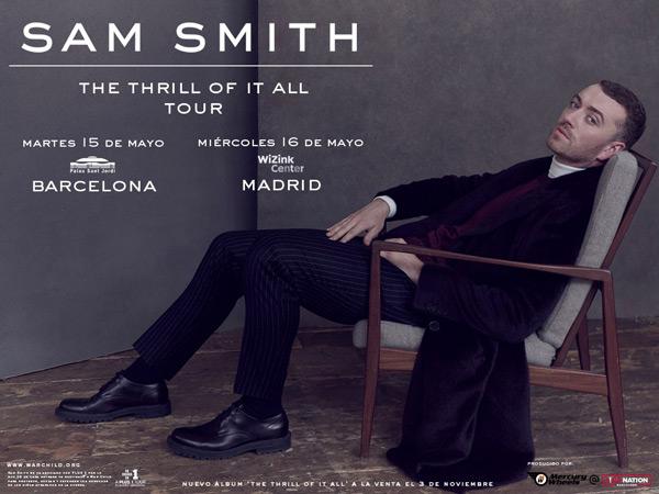 Sam Smith announce European Tour 2018
