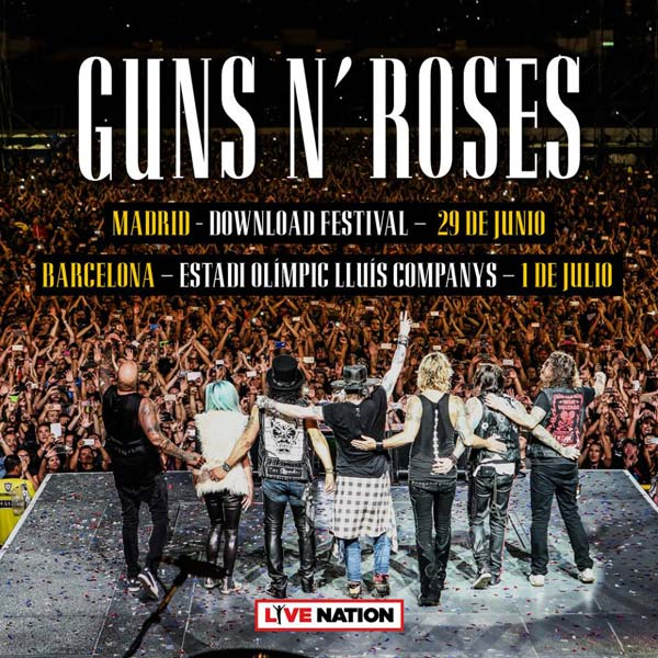 Guns N' Roses actuarán en Madrid y Barcelona en 2018