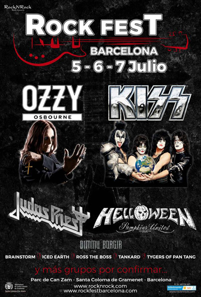 Ozzy Osbourne & Kiss, big headliners of the Rock Fest Barcelona 2018