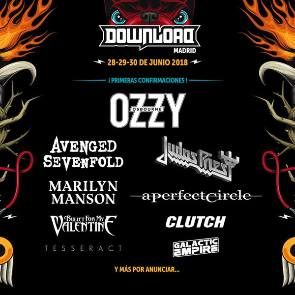 First names for Download Festival Madrid 2018