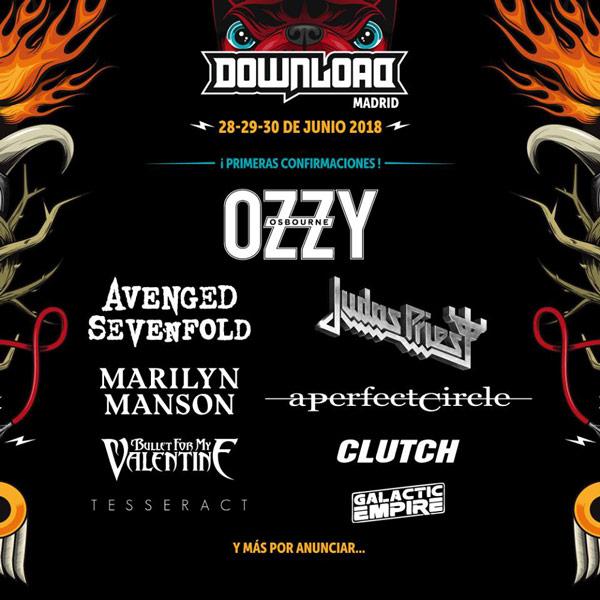 Primeras confirmaciones del Download Festival Madrid 2018