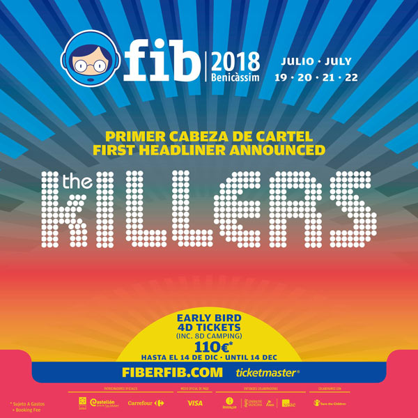 The Killers, first headliner for Spanish Festival FIB 2018