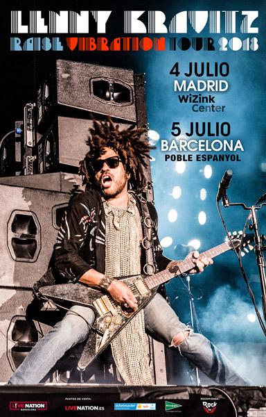 Lenny Kravitz actuará en Barcelona en julio de 2018
