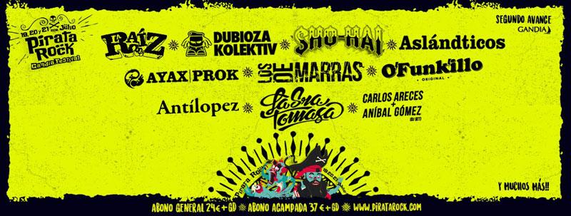 La Raíz jugará en casa en el Pirata Rock 2018