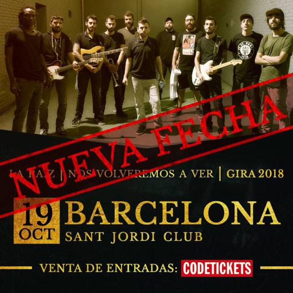 La Raíz anuncia segundo concierto en Barcelona