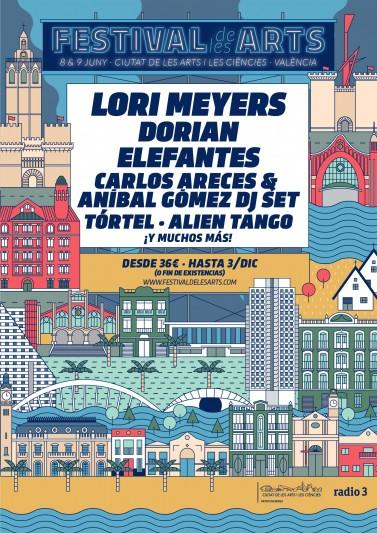 LORI MEYERS SE UNE AL CARTEL DE FESTIVAL DE LES ARTS VOL. 4