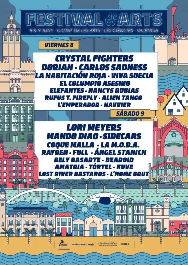 Últimas confirmaciones y cartel por dias del Festival de les Arts 2018
