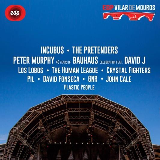 Incubus y Crystal Fighters al Vilar de Mouros 2018