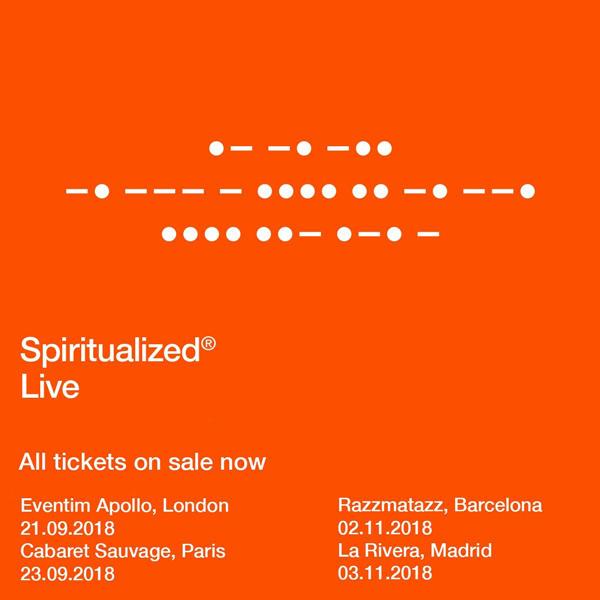 Spiritualized visitarán España en noviembre de 2018 con nuevo disco bajo el brazo