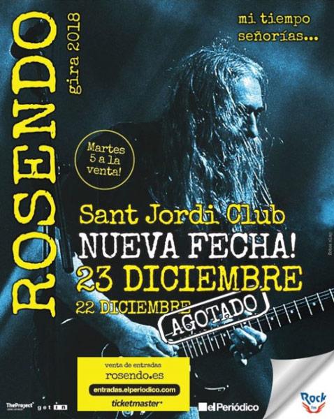 Rosendo anuncia segundo concierto en Barcelona