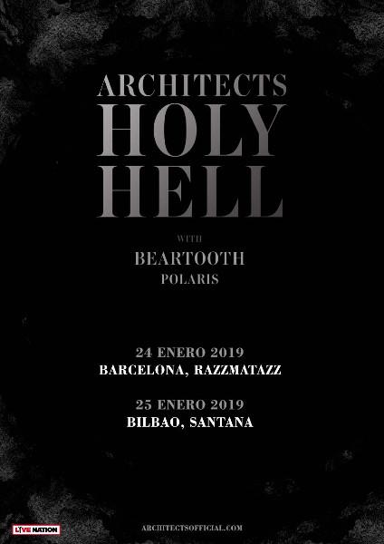 Architects anuncian dos conciertos en Bilbao y Barcelona en 2019