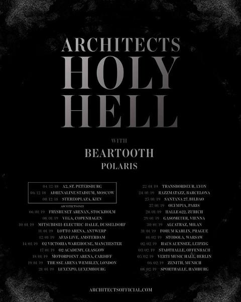Architects European tour 2019