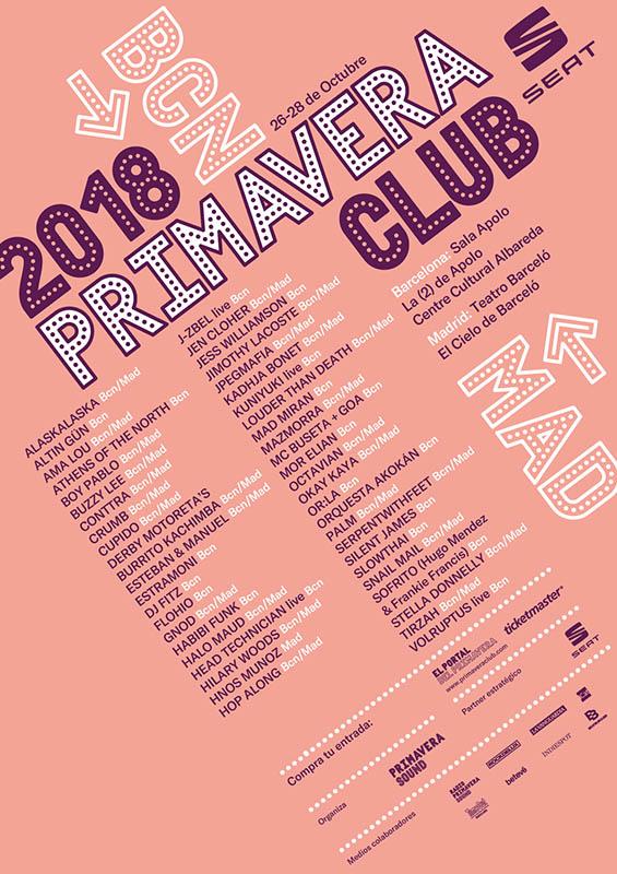 Primavera Club cartel 2018