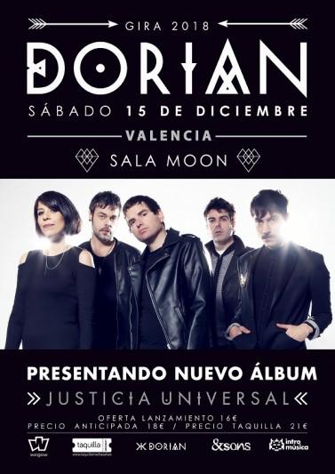 Dorian presentarán Justicia Universal en Valencia en diciembre