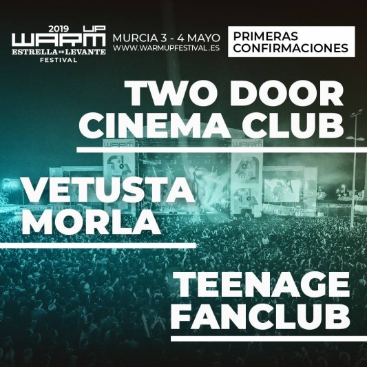 First names for Spanish festival Warm UP Estrella de Levante 2019