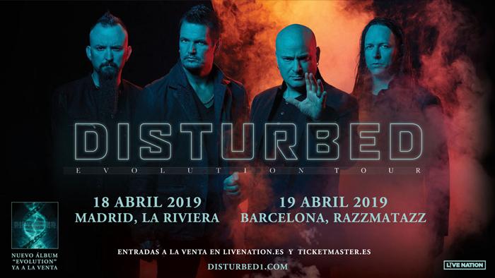 Disturbed visitarán España en abril de 2019