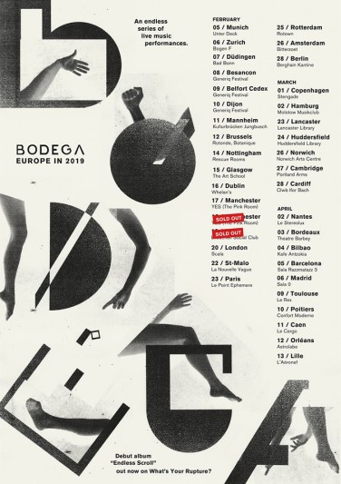 Bodega confirm Spain Tour in 2019