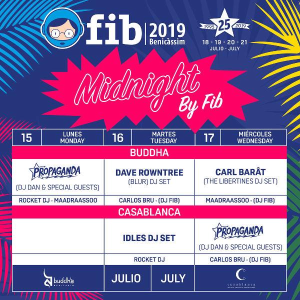 MIDNIGHT BY FIB! Las noches previas al FIB 2019 también se baila