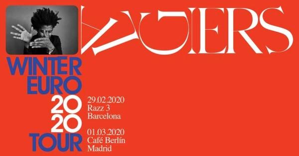 Algiers anuncian conciertos en Barcelona y Madrid en 2020