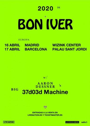 Bon Iver actuará en Madrid y Barcelona en abril de 2020