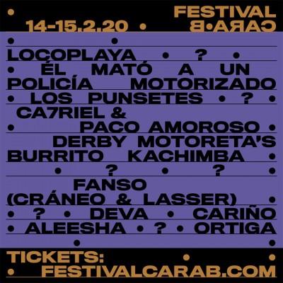 El Festival Cara·B 2020 anuncia los primeros nombres de su cartel