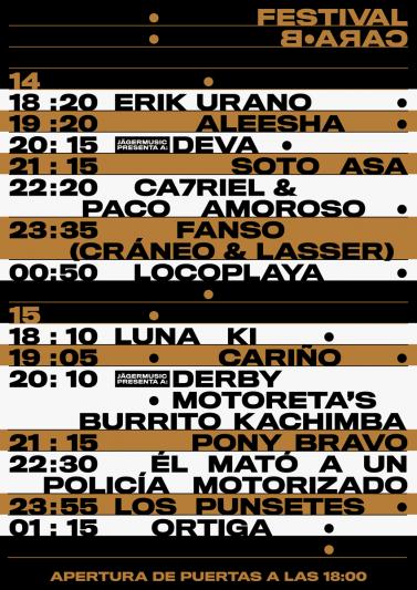 El Festival Cara·B 2020 anuncia sus horarios
