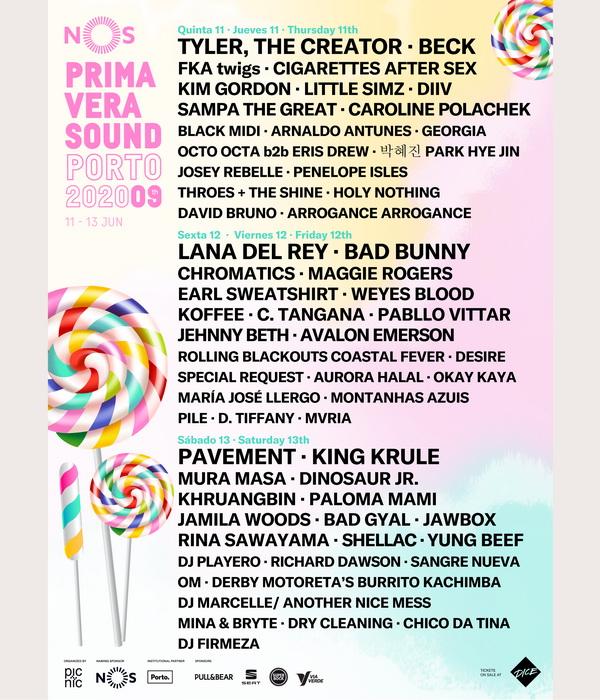 Cartel completo para el NOS Primavera Sound 2020