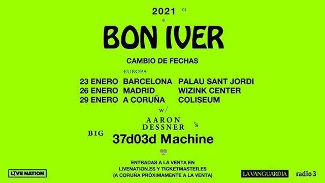 Bon Iver aplaza sus conciertos en España a enero de 2021