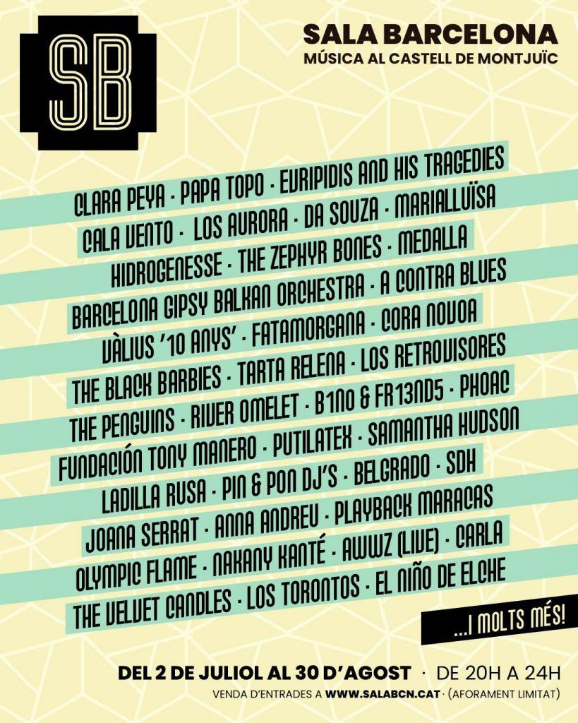 Sala Barcelona 2020, mas conciertos en la ciudad condal este verano