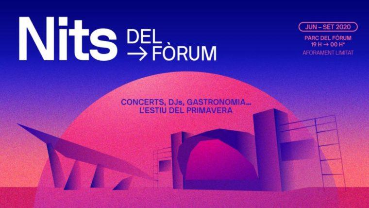 Nits del Fòrum suspende sus conciertos hasta el 31 de julio