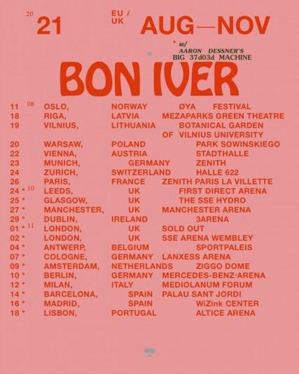 Bon Iver cambia de nuevo las fechas de sus conciertos para 2021