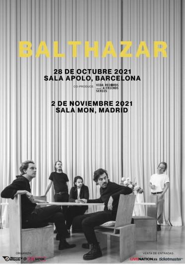 Balthazar actuarán en octubre en Barcelona y Madrid